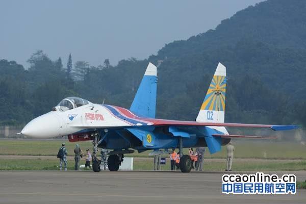 俄罗斯勇士苏-27战机静态展示
