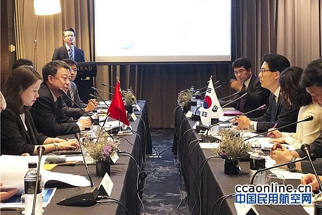 车进军访问韩国空管局 ,签署《中韩航路优化合作备忘录》
