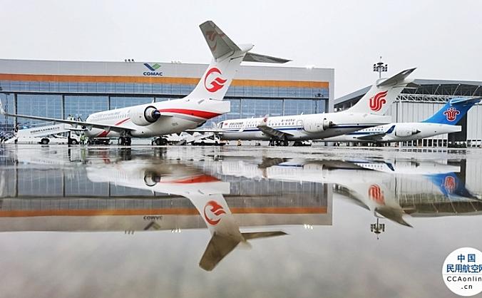 中国商飞向三大航交付以GE航空集团CF34发动机为动力的ARJ21飞机