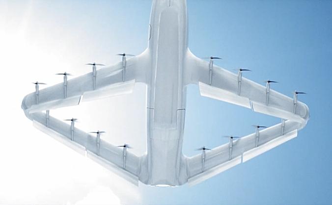 Craft Aero提出了一种新型菱形盒式翼9座eVTOL