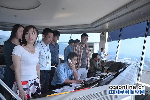 珠海空管站迎来2016中国航展参展飞机返程高峰