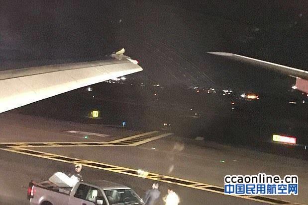 埃航B777与维珍航空A330在肯尼迪机场发生剐蹭