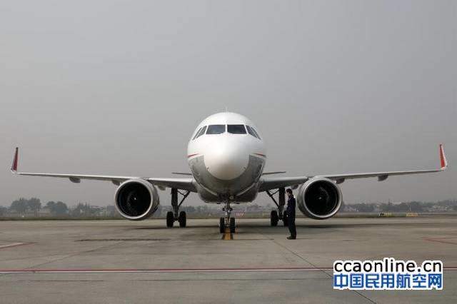 川航迎来第三架A320neo飞机,机队已达130架