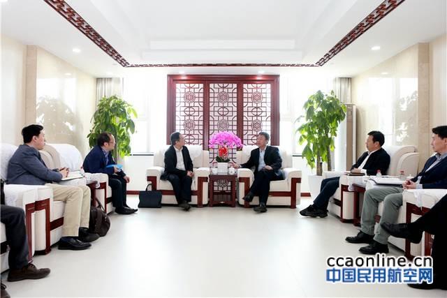 空管局局长车进军会见中国电科二十八所所长毛永庆一行