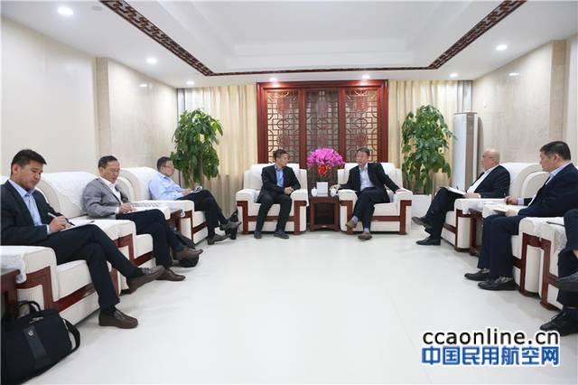 空管局局长车进军会见空客中国公司新任首席执行官
