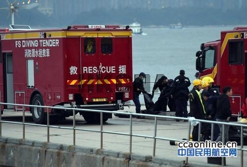 香港一架小型飞机练习花式飞行时突然失控坠毁